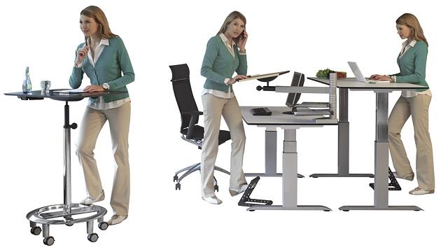 officeplus dynamisches Stehen und Sitzen